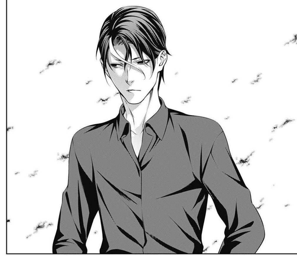 黒いシャツを着ている食戟のソーマの薙切薊